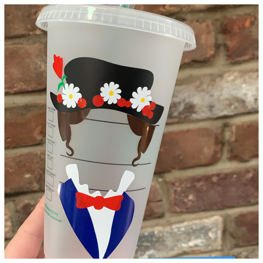 Multicolored Silhouette Character Cold Cup