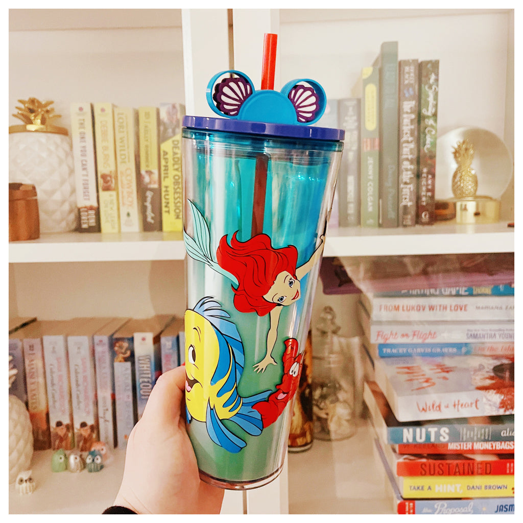 Princess Mermaid and Friends on Ombre Tumbler w/ Straw Buddy
