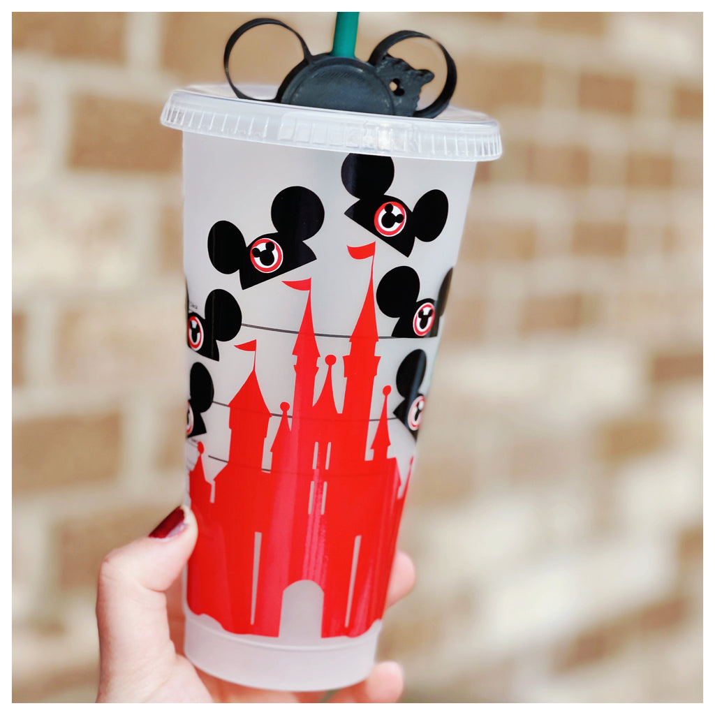 Mouse Hat Inspired Red Castle Cold Cup