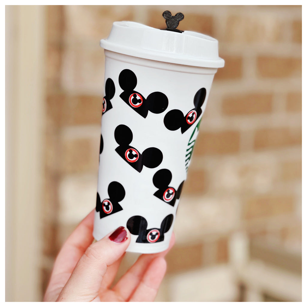 Mouse Hat Inspired Hot Cup w/ Stopper