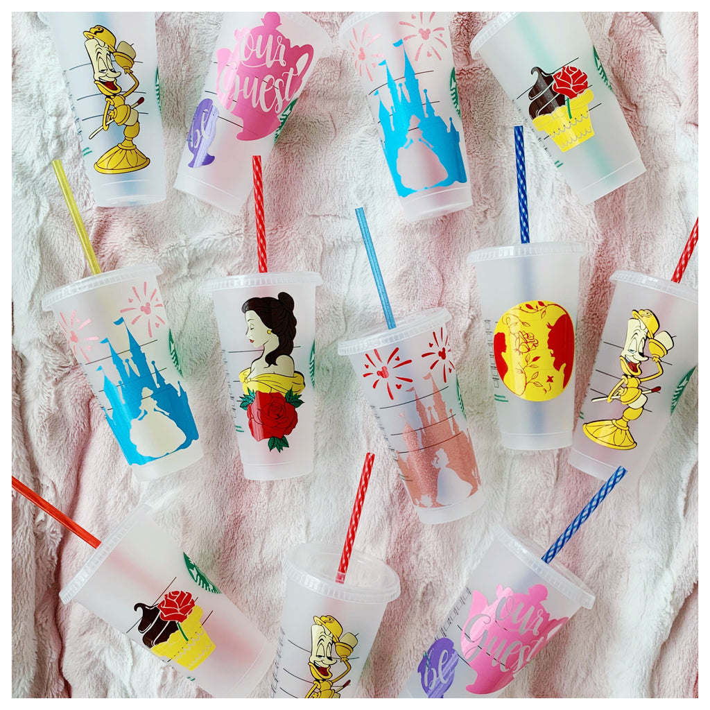 Beauty and the Beast Inspired Cold Cup and Straw Buddy Mystery Bag