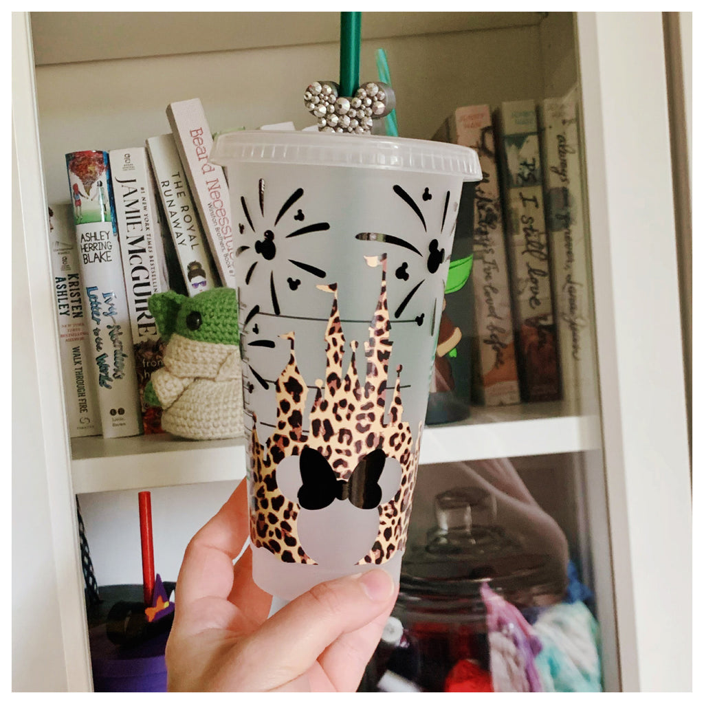 Cheetah Print Castle Cold Cup