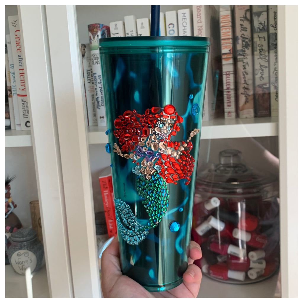 Gem Princess Mermaid Blue Tortoise Tumbler