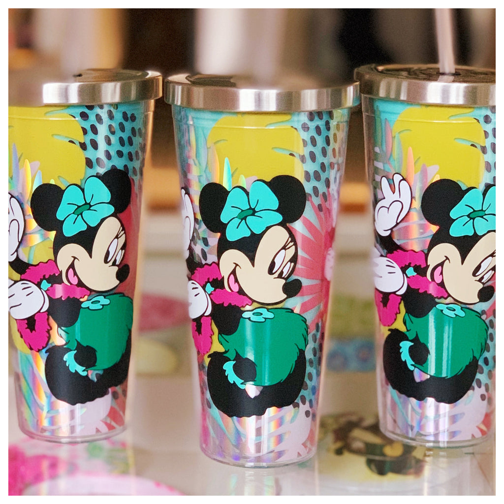 Character Hula Mouse Tropical Pattern Tumbler