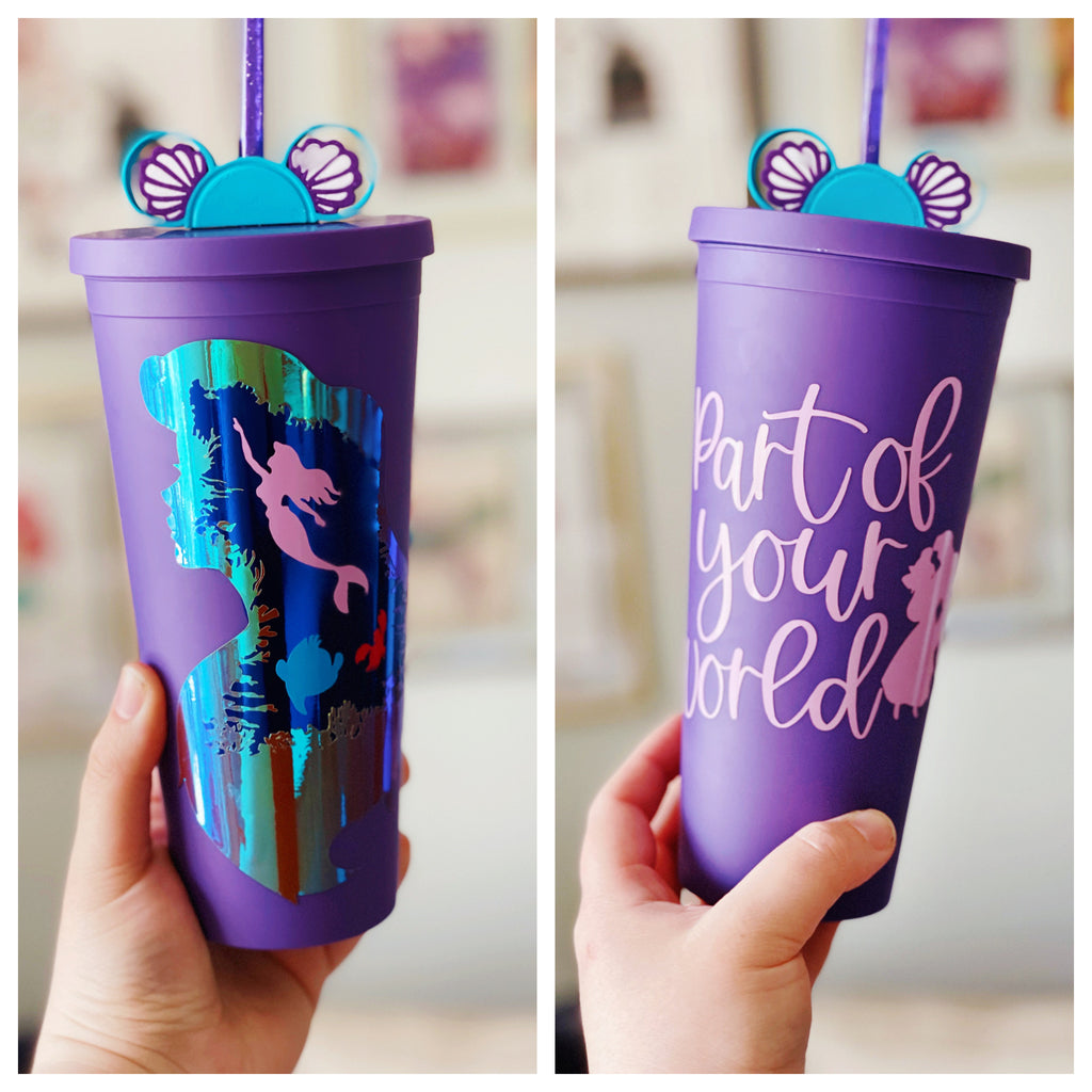 Part of Your World Inspired Matte Tumbler INCLUDES matching Straw Buddy