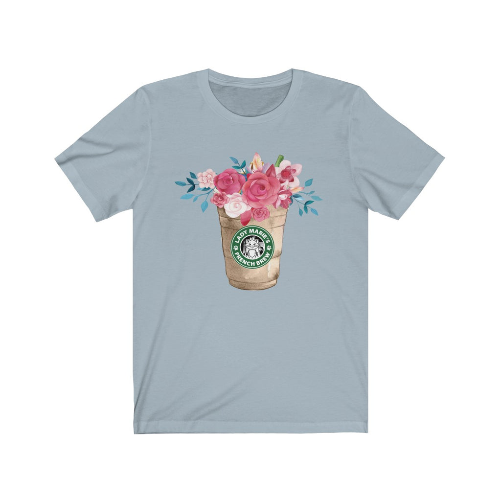 Lady Marie's French Brew Floral Coffee t-shirt