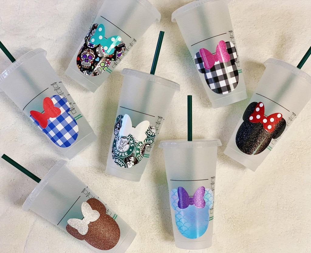 Character Patterned Vinyl Personalized Venti Reusable Cold Cup
