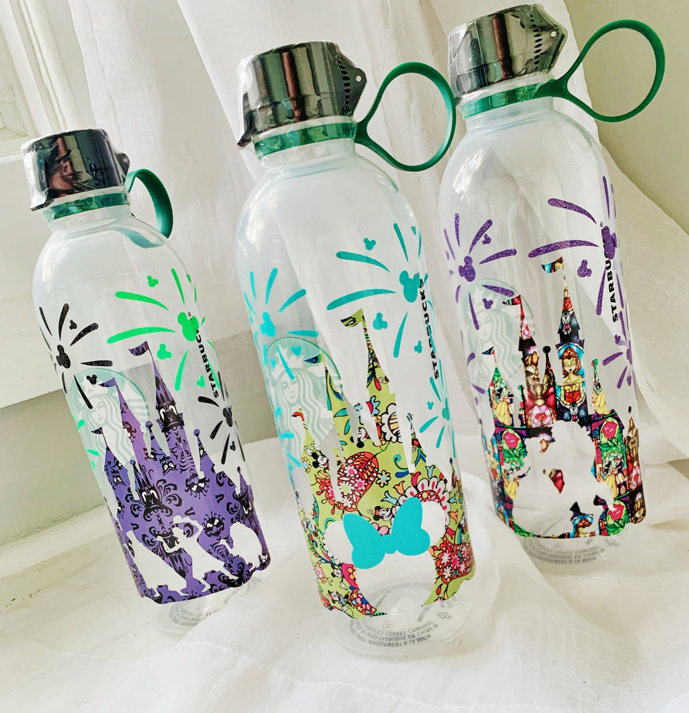 Character Patterned Vinyl Personalized Venti Reusable Water Bottle