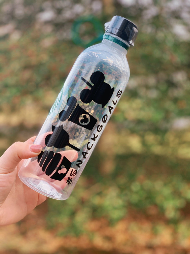 Personalized #Snackgoals Reusable Water Bottle