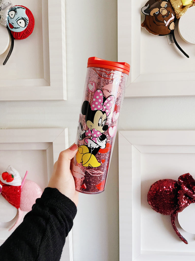 Valentine's Day Mouse on Glitter Grande Kiss and Hearts Tumbler