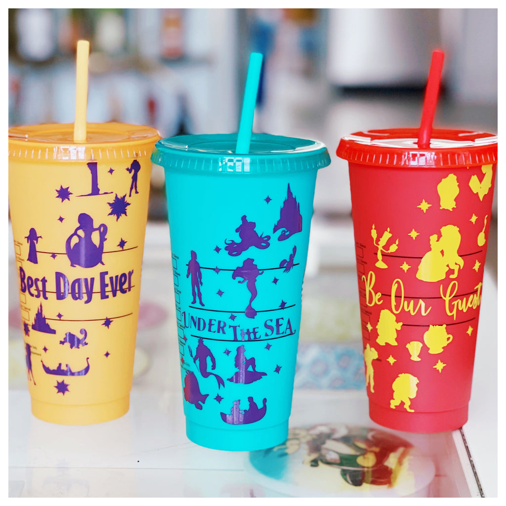 Princess Inspired Color Changing Cups