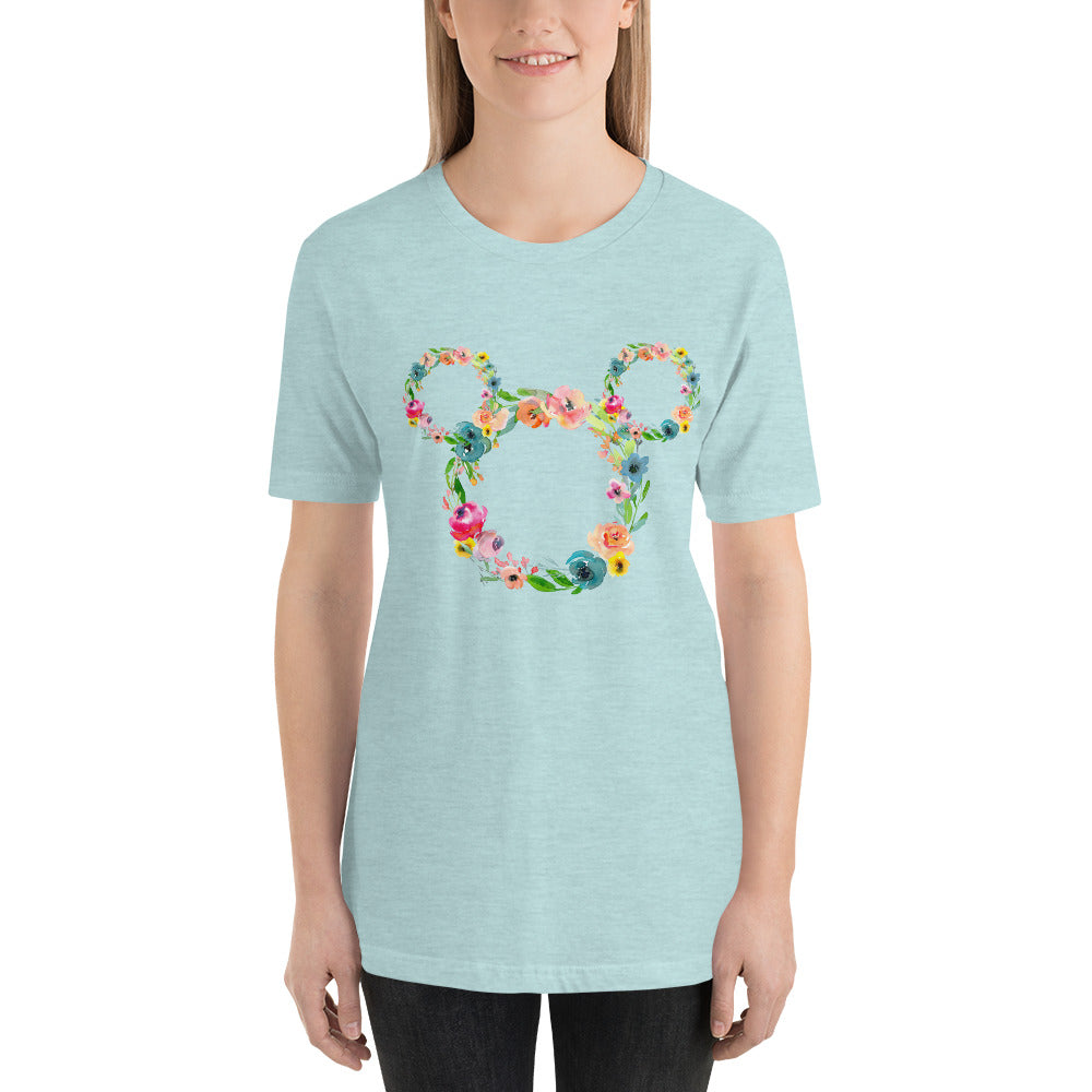 Floral Mouse Head t-shirt