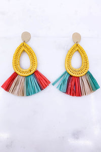 Caribbean Resort Paper Fringe Earrings