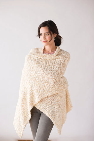 A Warm Embrace Giving Shawl-Cream