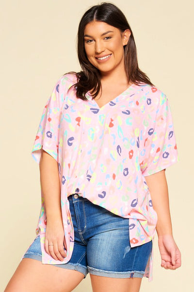 Seeing Spots Neon Rainbow Leopard Top