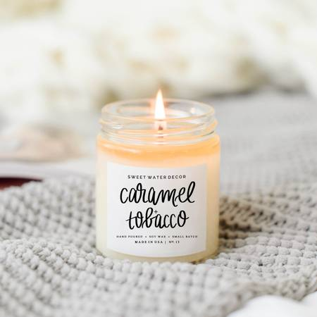 Caramel+Tobacco Soy Candle