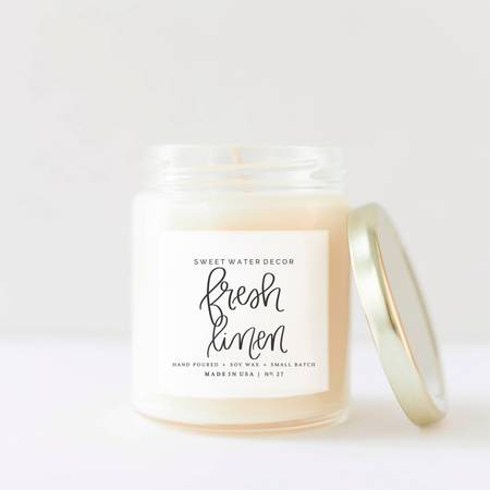 Fresh Linen Soy Candle