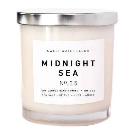 Midnight Sea Soy Candle-11oz