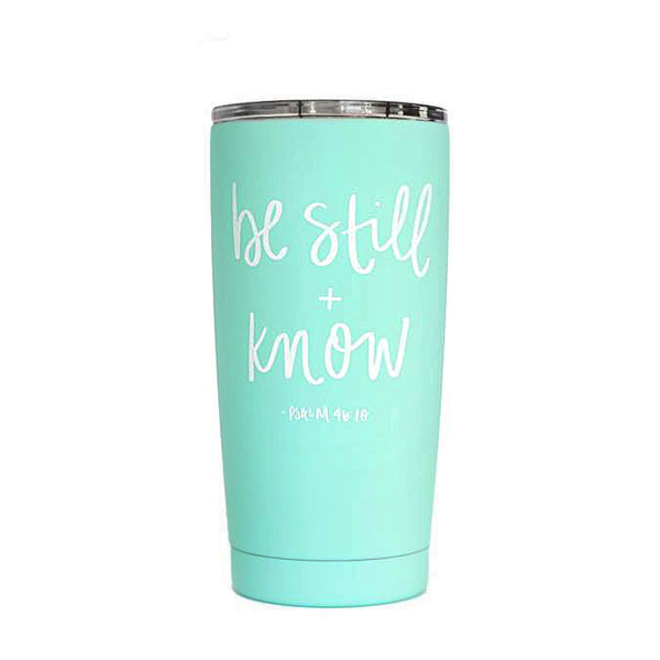 Be Still And Know Scripture Metal Travel Mug