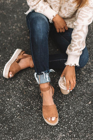 Key To Your Heart Tan Espadrille Sandals-Pre Order