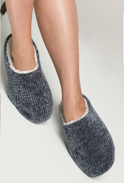 I Knew I Loved You Rose Chenille Slippers