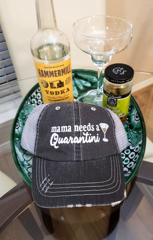 Mama Needs A Quarantini Trucker Cap