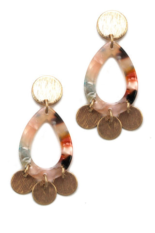 Take A Walk With Me Multi Colored Earrings