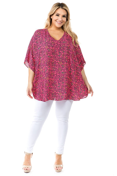 Electrified By Love Neon Pink Leopard Top