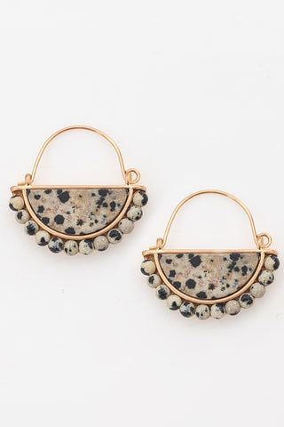 Something About You Dalmatian Semi Stone Earrings