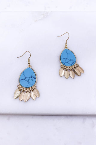 Blue Skies Turquoise Earrings