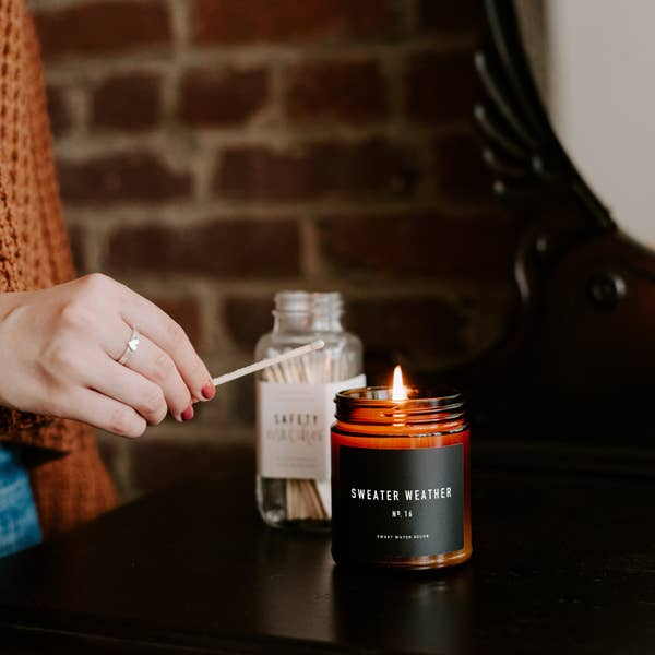 Sweater Weather Amber Jar Soy Candle