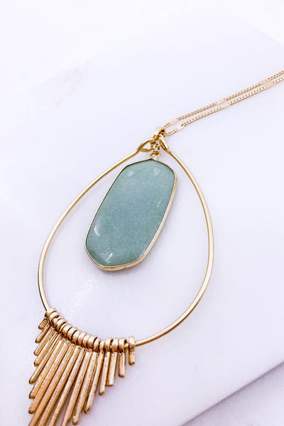 Boho Chic Mint Pendant Necklace
