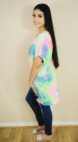 Cloud 9 Tie Dye Tunic Top