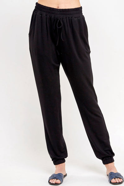 Let's Stay In French Terry Joggers-Black