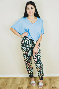 Cozy Night In Leopard Lounge Joggers