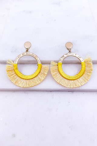 Love Story Yellow Tassel Earrings