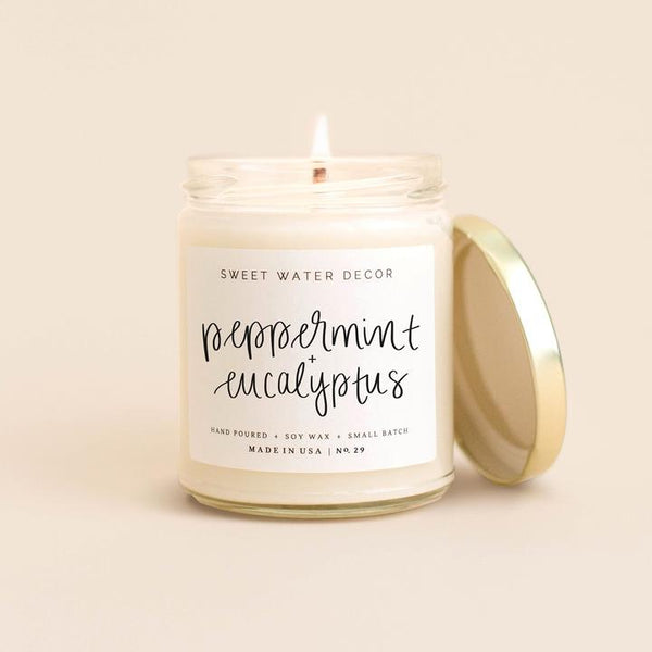 Peppermint Eucalyptus Soy Candle