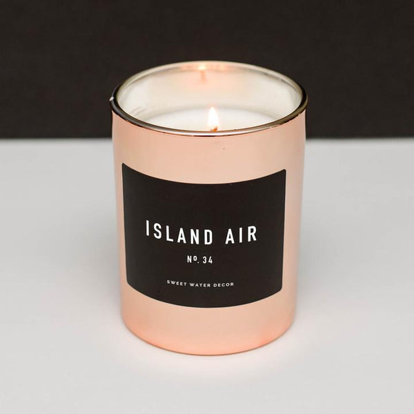 Island Air Rose Gold Soy Candle