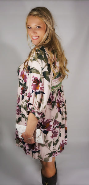 Floral Blossoms in the Fall Dress