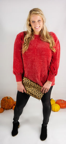 Autumn Kisses Chenille Sweater