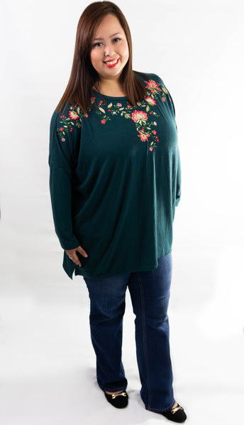 Forest Green Embroidered Tunic