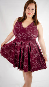 Merlot Kisses Wine Dress