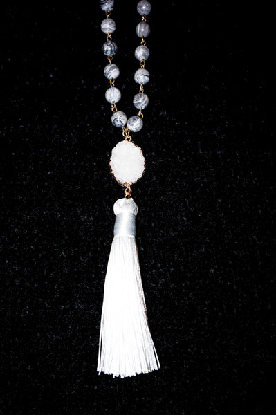 Forever & A Day White Tassel Necklace