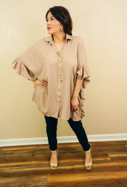 Ready For My Morning Latte Oversized Tunic