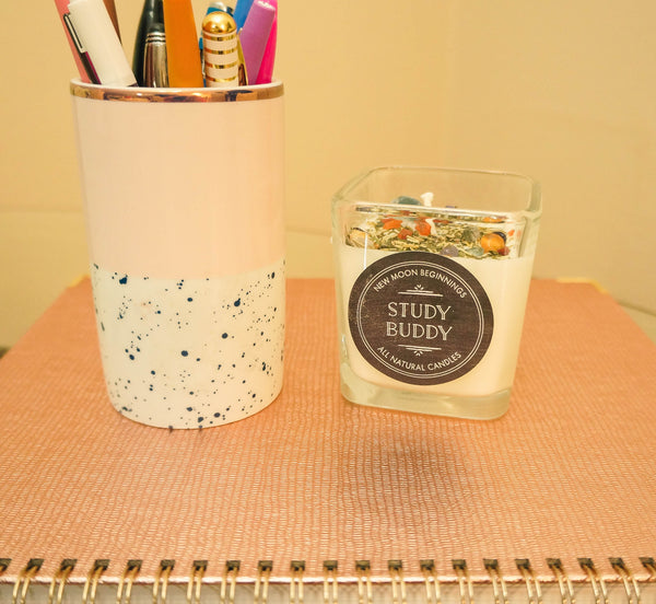 Study Buddy Crystal & Herb Energy Candle