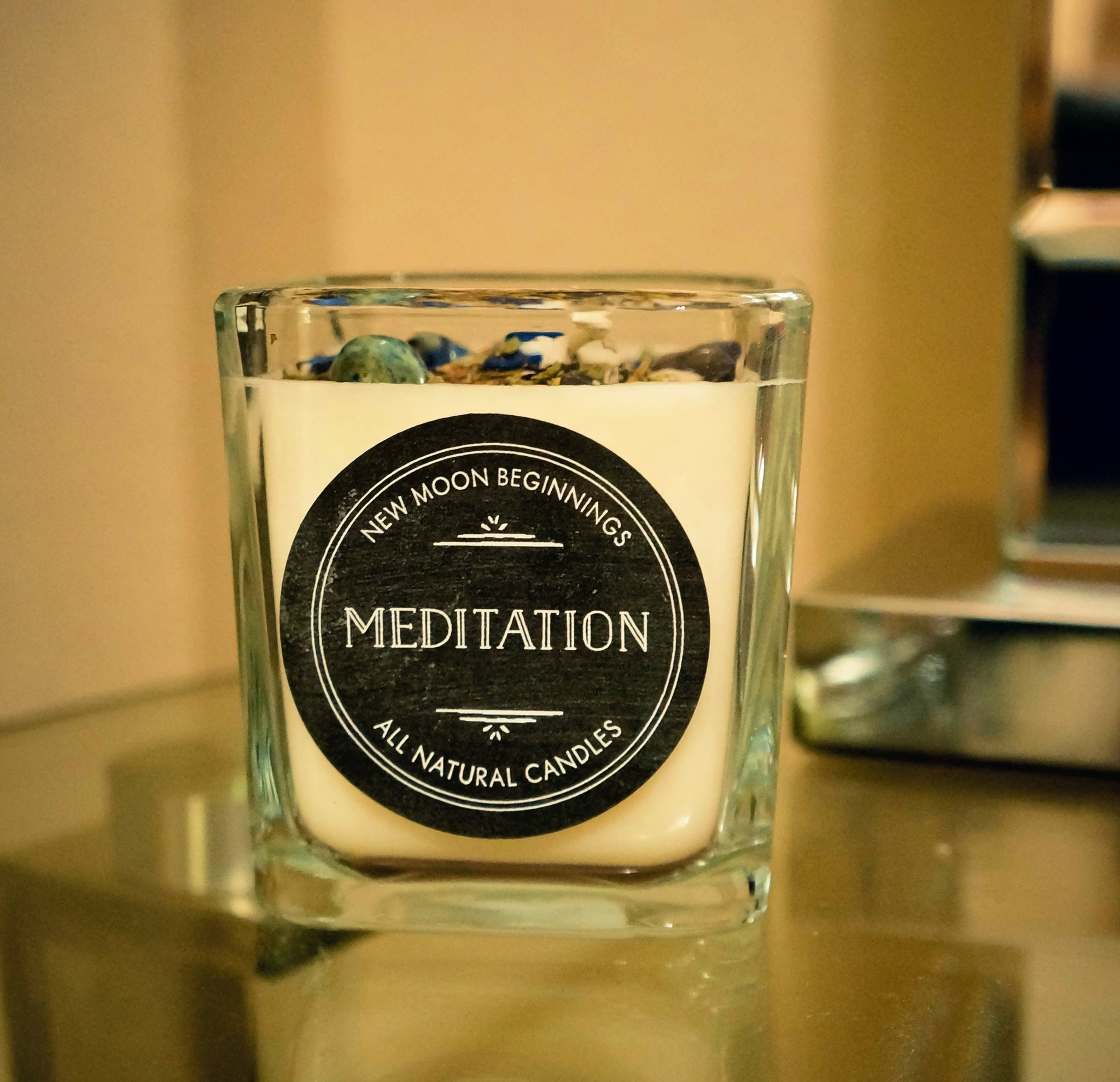 Nag Champa (Meditation) Crystal & Herb Energy Candle