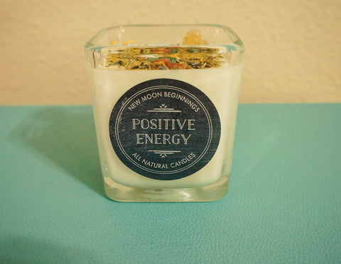 Positive Energy Crystal & Herb Energy Candle