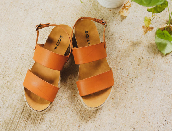 Perfect Day For A Picnic Caramel Espadrille Sandals