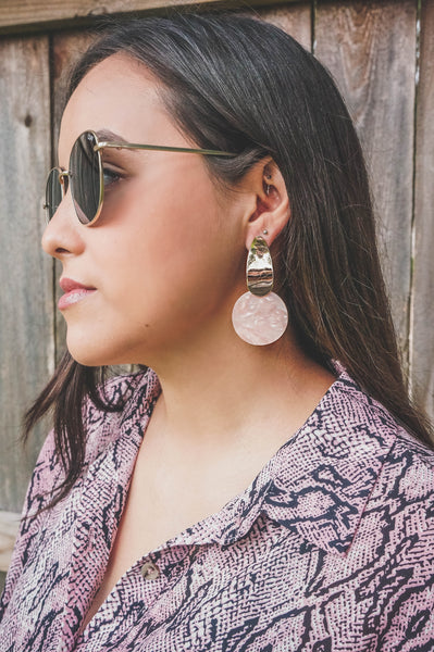 Simply Marvelous Blush Pink Acrylic Earrings