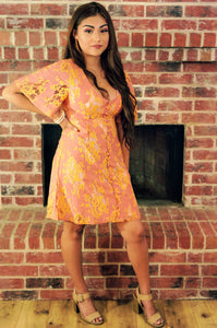 Petals of Fall & Dinner On The Harbor Lace Peach Dress